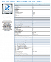 HPE DL560 Gen10 Intel Xeon-Platinum 8260 (2.4GHz/24-core/165W) Processor Kit (ships with Performance Heatsink)